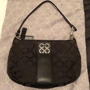 Coach Wristlet Black Cloth Bag